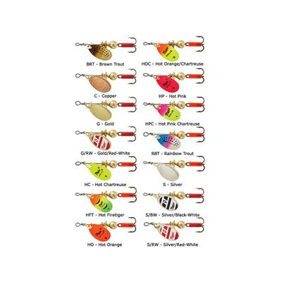 Aglia Size 1 Plain Treble Hook Spinners