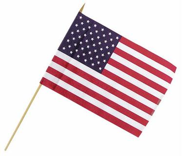 U.S. Flag on Stick