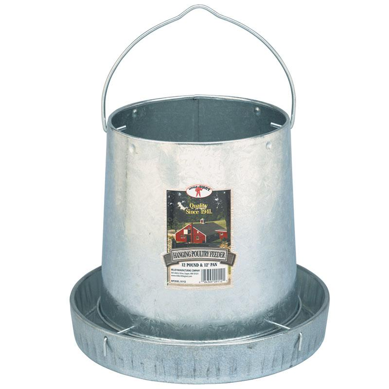 12 Pound Hanging Metal Poultry Feeder