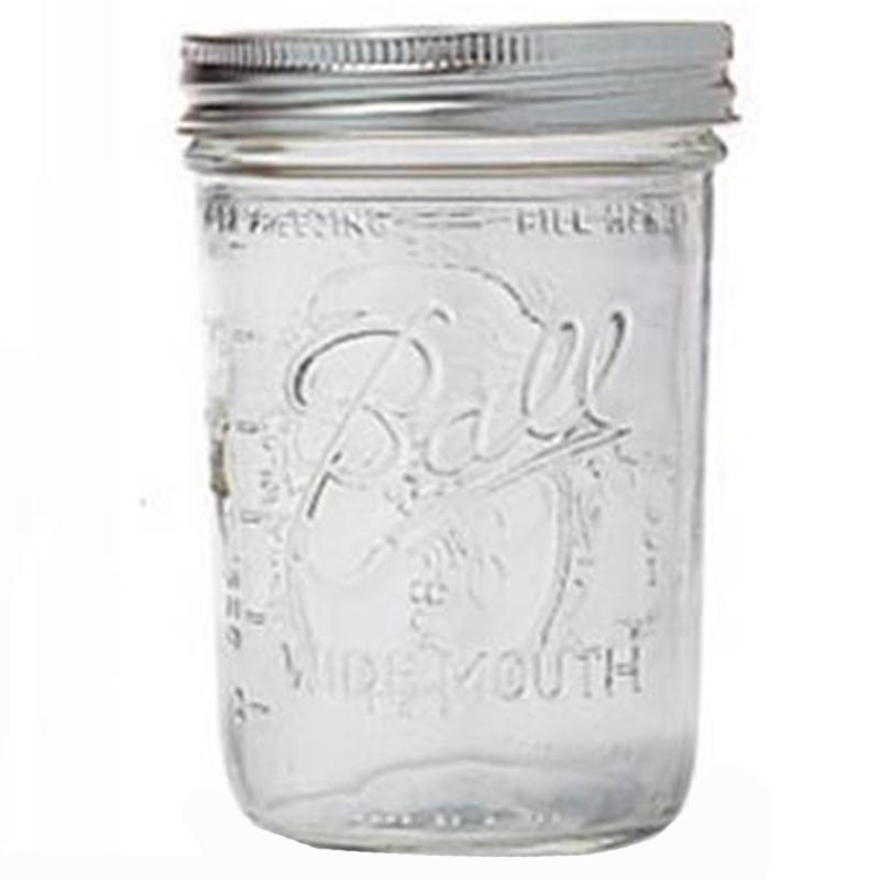 Wide Mouth Jar With Cap (Box Of 12)