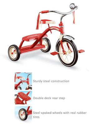 Radio FlyerTricycle Classic Red 12 Inch