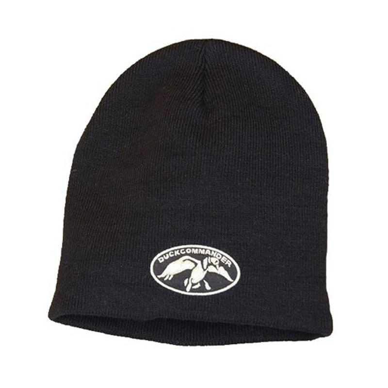 Duck Commander Black Beanie With Logo