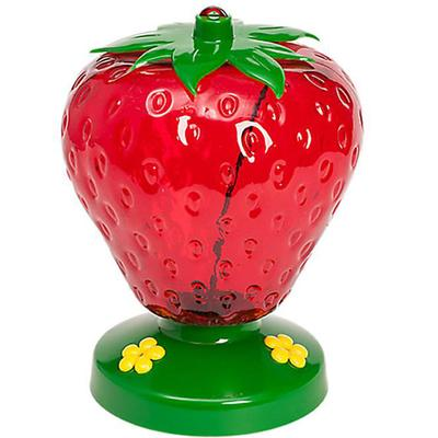 Strawberry Plastic Hummingbird Feeder
