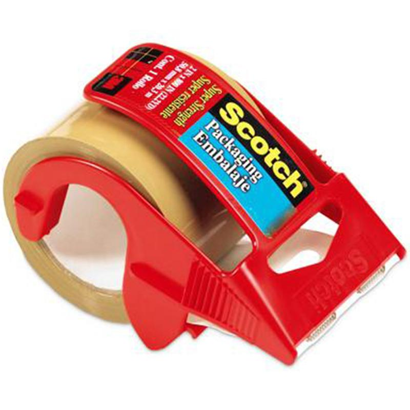Scotch Tan Packaging Tape In Dispenser