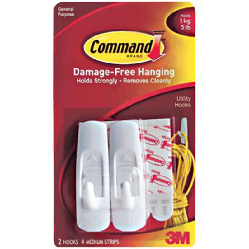 Medium Utility Command Hook - 2 Pack