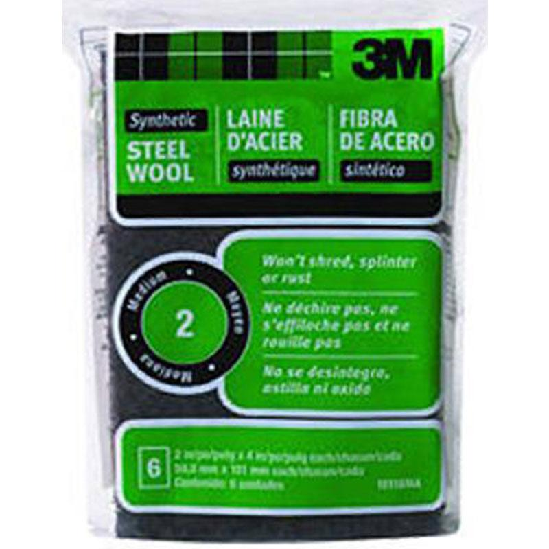 # 2 Medium Synthetic Steel Wool Pad
