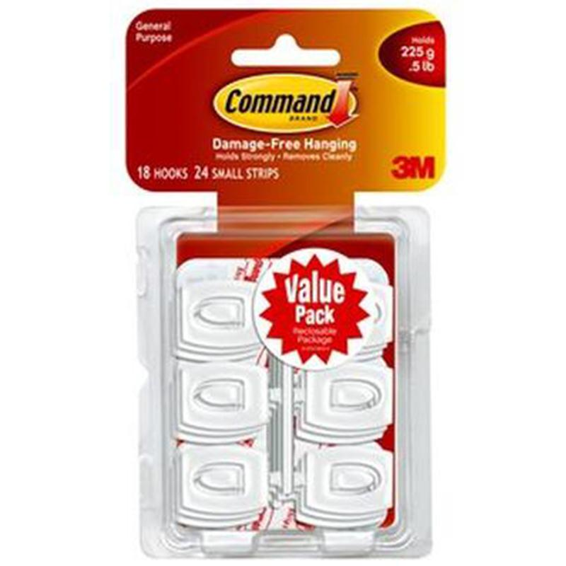 Command White Mini Hooks (Value Pack)