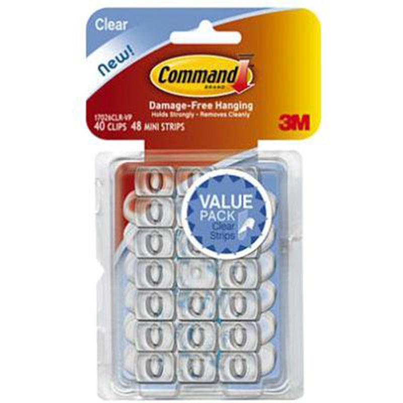 Command Clear Decorating Clips (40 Pack)
