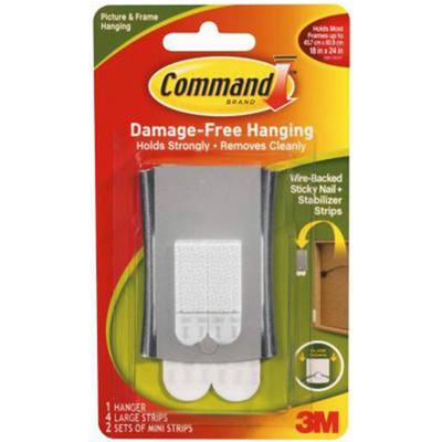 Command Wire-Backed Sticky Nail and Stabilizer Strips