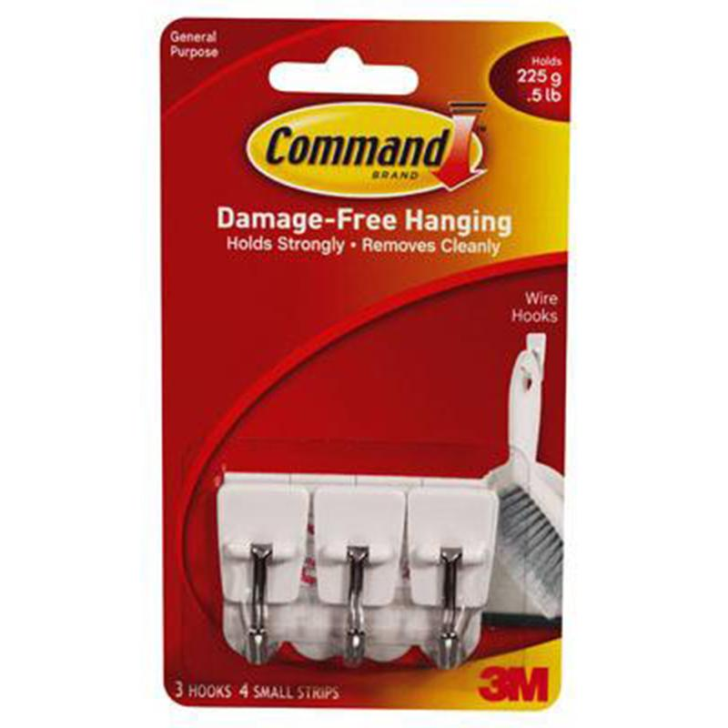 Command Small Utensil Wire Hooks (3 Pack)