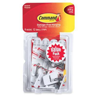 Command Small White Wire Hooks (Value Pack)