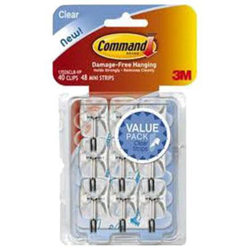 Command Clear Small Wire Hooks (9 Pack)