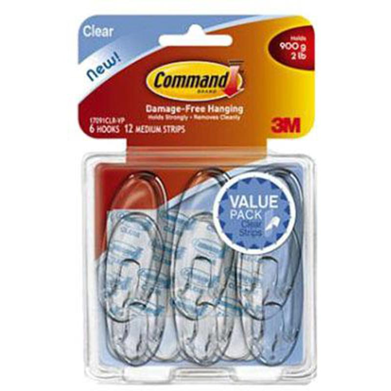 Command Clear Medium Hook (Value Pack)