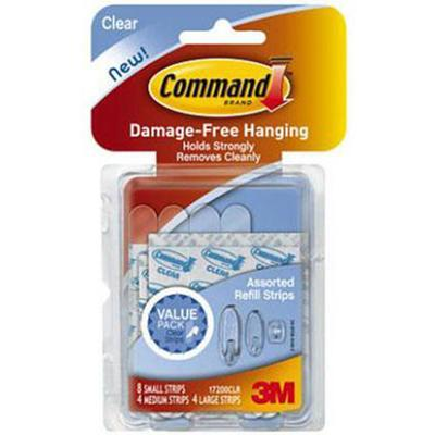 Command Clear Assorted Refill Strips
