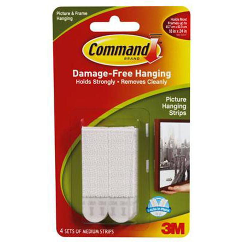 Command Medium White Picture Hanging Strips