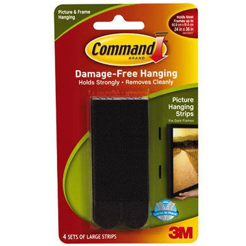 Command Black Large Picture Hanging Strips