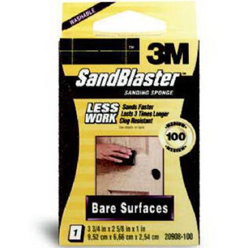 Sandblaster 100- Grit Bare Surfaces Sanding Sponge