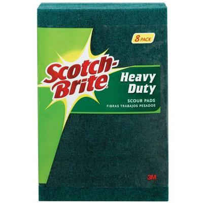 Scotch-Brite Heavy Duty Scour Pads (8 Pack)