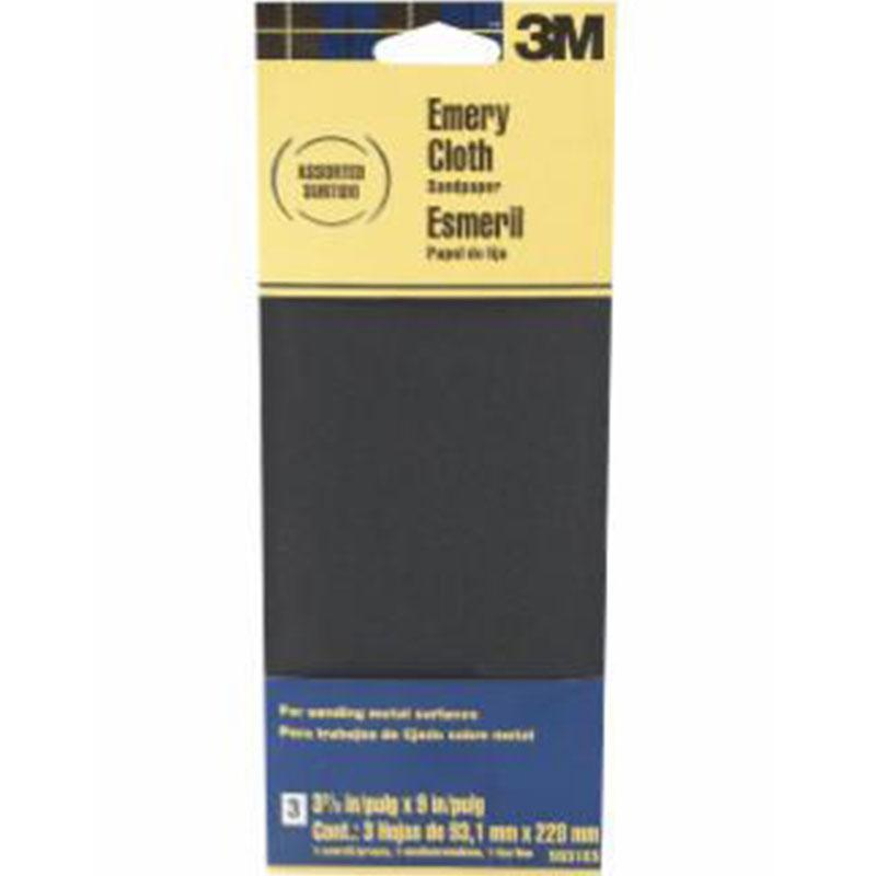 Emery Cloth Assorted Grit Sandpaper 3- 2/3