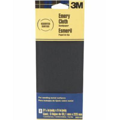 Emery Cloth Assorted Grit Sandpaper 3-2/3