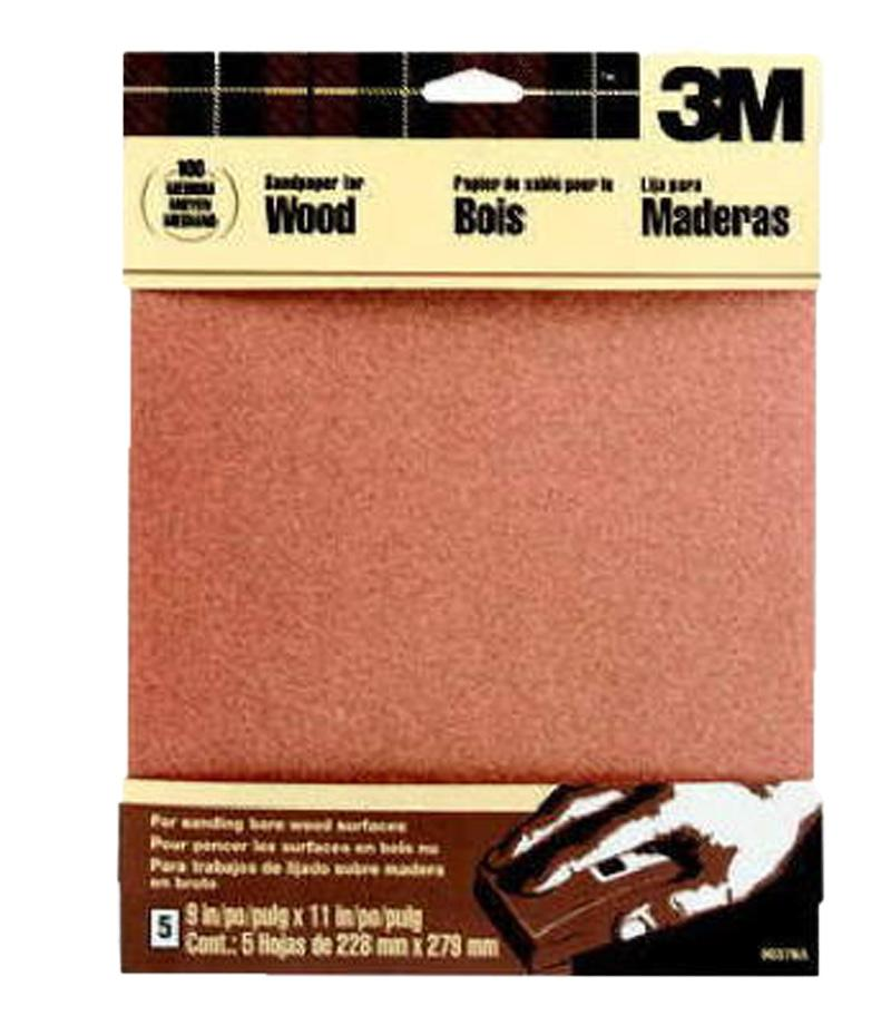 Garnet Sandpaper Medium 150- Grit (5 Pack)