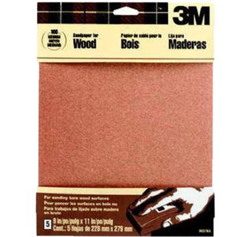 Garnet Sandpaper Medium 100- Grit (5 Pack)
