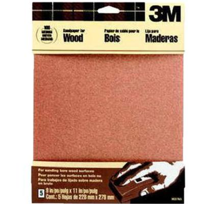 Garnet Sandpaper Medium 150-Grit (5 Pack)