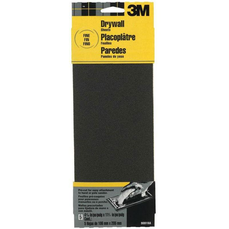 Fine Grit Drywall Sanding Sheets (5 Pack)