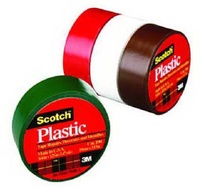 3m Scotch 3/4 X 125- Inch Black Plastic Tape 190blk