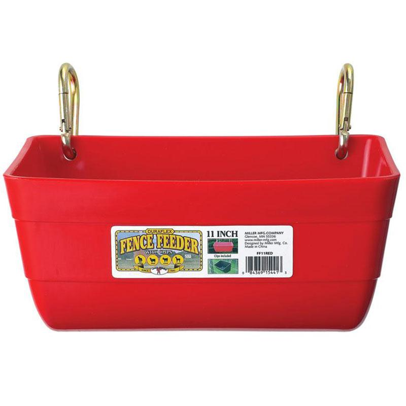 Little Giant 11 Inch Red Fence Feeder With Clips