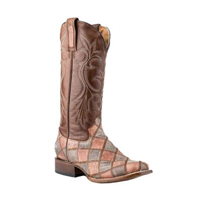 Roper Women's Teju Lizard Print Patchwork Boot