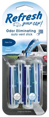 New Car/Cool Breeze Dual Vent Sticks - 4 Pack