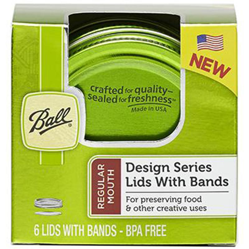 Ball Design Series Green Color Lids And Bands