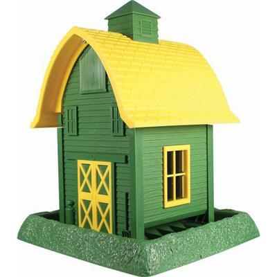 Barn Bird Feeder - Green + Yellow