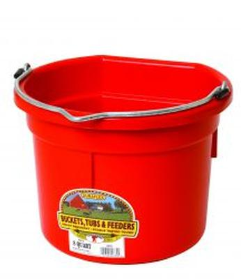 Flat Back Plastic Bucket- 22 Quarts