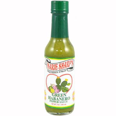 Marie Sharp's Green Habanero Hot Sauce with Prickly Pears