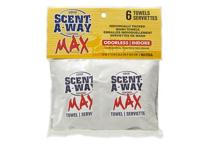 Scent-A-Way® Max Individual Wash Towels (6 Pack)