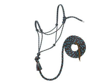 Weaver Leather Silvertip Rope Halter with 12ft Lead
