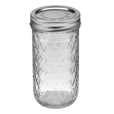 Quilted Jelly Jar 12 Pack - 12oz