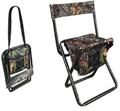 Camo Folding Stool With Back Rest (5810)