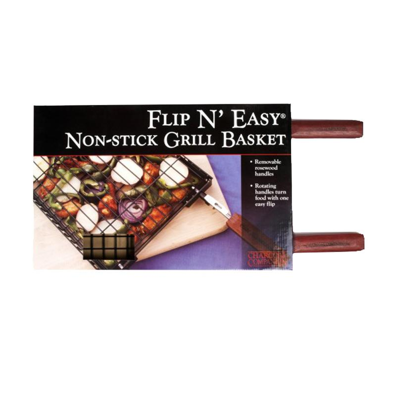 Flip N ' Easy Non- Stick Grill Basket