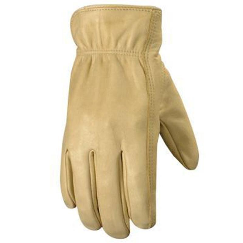 Men's Cowhide Grain Leather Gloves