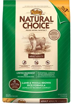 Nutro  Natural Choice Lamb + Whole Rice - 30lb