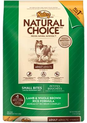 Nutro  Natural Choice Small Bite Lamb + Whole Rice - 30lb