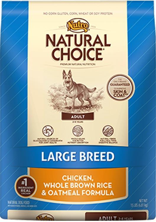 Nutro Natural Choice Large Breed Chicken Rice + Oatmeal - 30lb