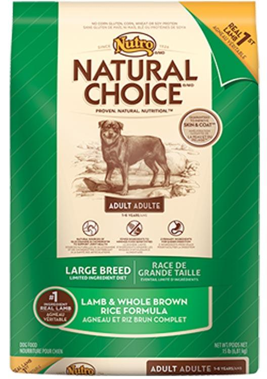 Nutro Natural Choice Large Breed Lamb + Whole Rice - 30lb
