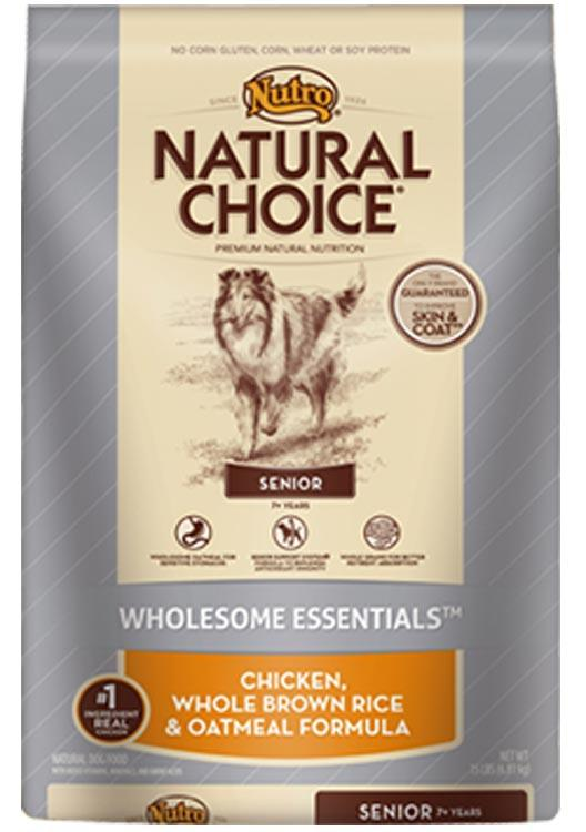 Nutro Natural Choice Senior Chicken Rice + Oatmeal - 30lb