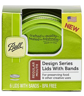 Design Series Green Color Lids and Bands