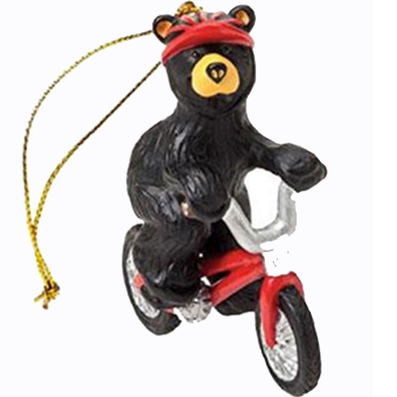 Biking Bear Ornament