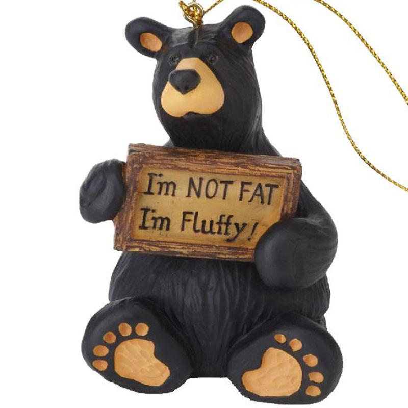 I ' M Fluffy Bear Ornament